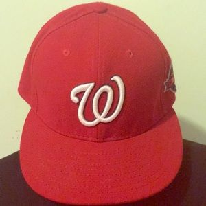 Washington Nationals Fitted Hat 10 yr anniversary